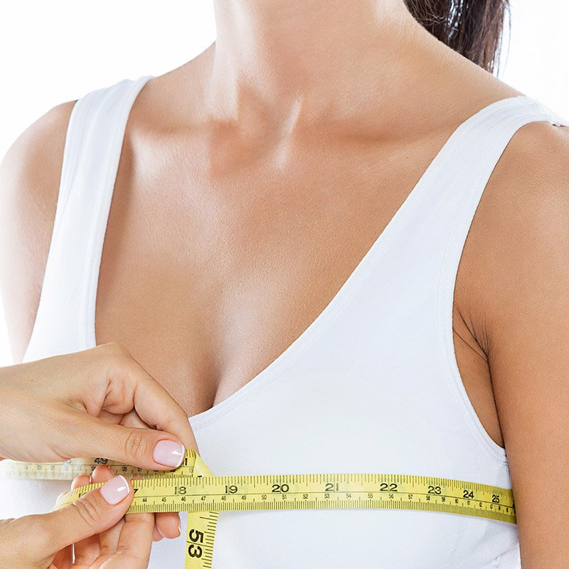 measuring for breast reduction