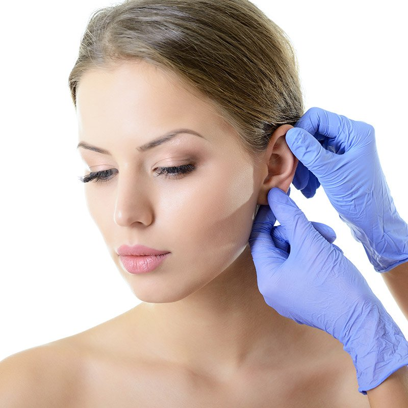 ear reshaping or ear reconstruction