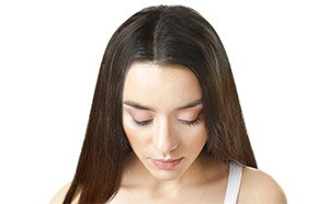 PRP hair restoration on woman after