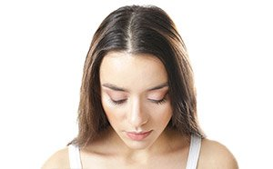 PRP hair restoration on woman before